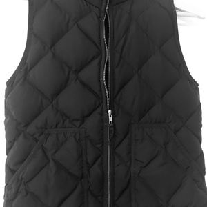 Jcrew navy quilted vest size small
